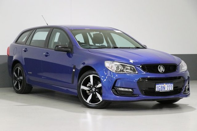 Used Holden Commodore Vfii MY16 SV6 Black Edition, 2016 Holden Commodore Vfii MY16 SV6 Black Edition Blue 6 Speed Automatic Sportswagon