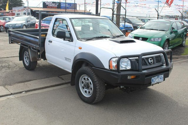 Used Nissan Navara D22 MY08 DX (4x4), 2008 Nissan Navara D22 MY08 DX (4x4) White 5 Speed Manual Cab Chassis