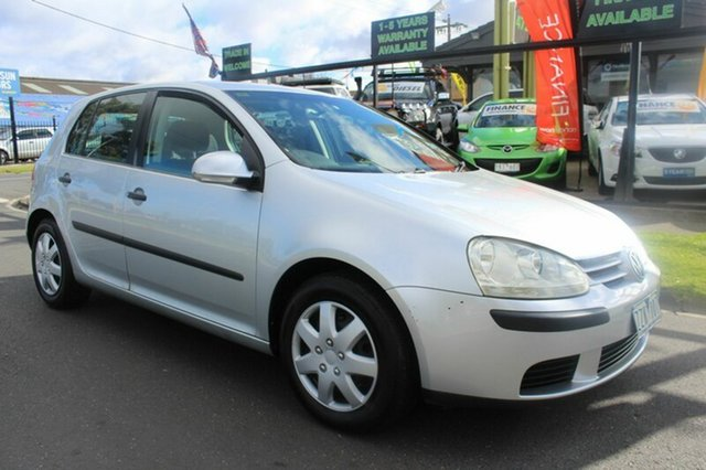 Used Volkswagen Golf V Trendline Tiptronic West Footscray, 2004 Volkswagen Golf V Trendline Tiptronic Silver 6 Speed Sports Automatic Hatchback