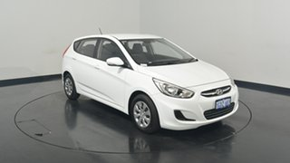 2016 Hyundai Accent RB4 MY17 Active Crystal White 6 Speed Constant Variable Hatchback