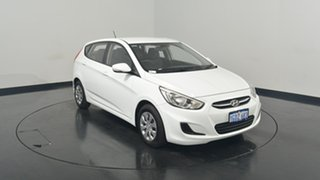 2016 Hyundai Accent RB4 MY17 Active Crystal White 6 Speed Constant Variable Hatchback.