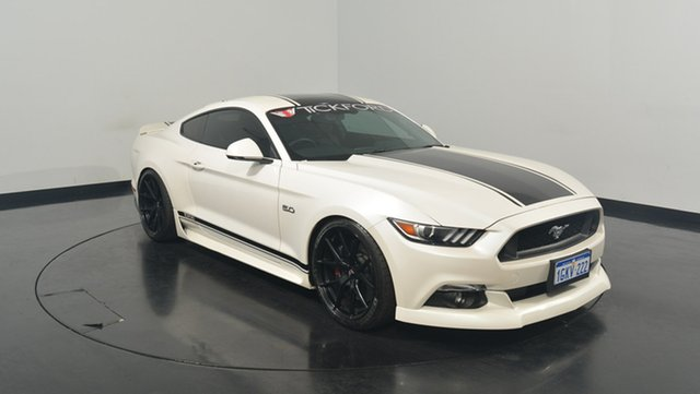 Used Ford Mustang FM 2017MY GT Fastback SelectShift, 2017 Ford Mustang FM 2017MY GT Fastback SelectShift White Platinum 6 Speed Sports Automatic Fastback