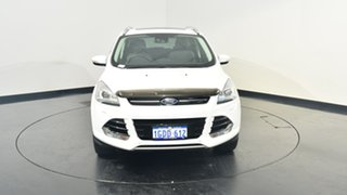 2015 Ford Kuga TF MY16 Titanium PwrShift AWD White 6 Speed Sports Automatic Dual Clutch Wagon