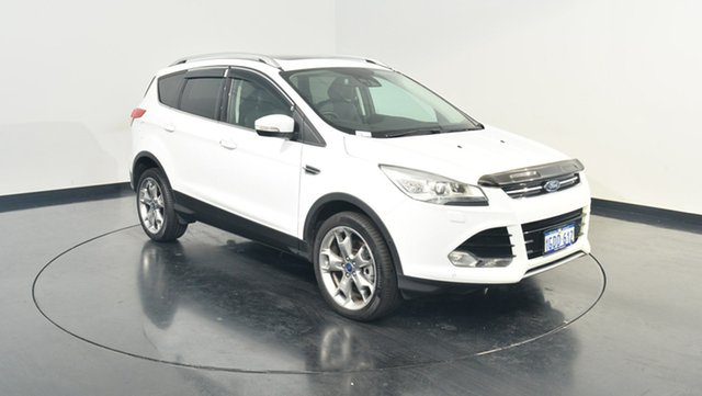 Used Ford Kuga TF MY16 Titanium PwrShift AWD, 2015 Ford Kuga TF MY16 Titanium PwrShift AWD White 6 Speed Sports Automatic Dual Clutch Wagon