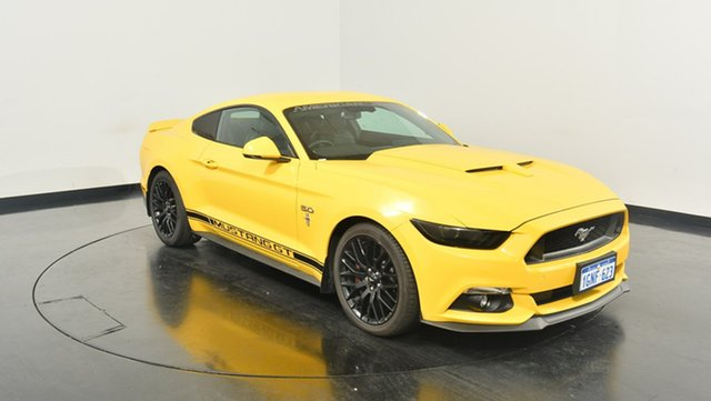 Used Ford Mustang FM MY17 GT Fastback SelectShift, 2017 Ford Mustang FM MY17 GT Fastback SelectShift Yellow 6 Speed Sports Automatic Fastback