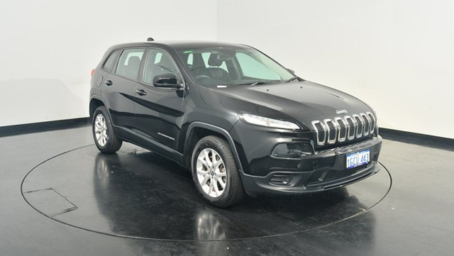 Used Jeep Cherokee KL MY15 Sport, 2015 Jeep Cherokee KL MY15 Sport Black 9 Speed Sports Automatic Wagon