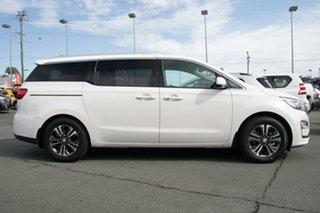 2019 Kia Carnival YP MY19 SLi Clear White 8 Speed Sports Automatic Wagon.