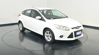 2013 Ford Focus LW MKII Trend PwrShift Frozen White 6 Speed Sports Automatic Dual Clutch Hatchback.