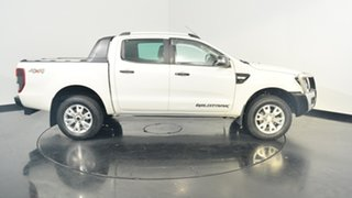 2012 Ford Ranger PX Wildtrak Double Cab White 6 Speed Manual Utility