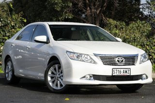 2013 Toyota Aurion GSV50R Prodigy Pearl White 6 Speed Sports Automatic Sedan.