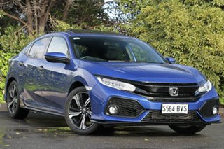 2017 Honda Civic 10th Gen MY17 RS Brilliant Sporty Blue 1 Speed Constant Variable Hatchback.