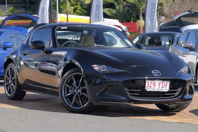 Demo Mazda MX-5 ND GT RF SKYACTIV-MT, 2017 Mazda MX-5 ND GT RF SKYACTIV-MT Jet Black 6 Speed Manual Targa