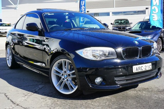 Used BMW 120i E82 LCI MY11 Steptronic, 2011 BMW 120i E82 LCI MY11 Steptronic Black 6 Speed Sports Automatic Coupe
