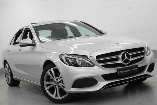 Used Mercedes-Benz C200 W205 808MY 9G-TRONIC, 2017 Mercedes-Benz C200 W205 808MY 9G-TRONIC Silver 9 Speed Sports Automatic Sedan