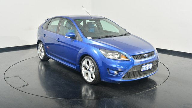 Used Ford Focus LV Mk II XR5 Turbo, 2010 Ford Focus LV Mk II XR5 Turbo Blue 6 Speed Manual Hatchback