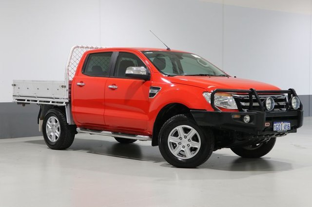 Used Ford Ranger PX XLT 3.2 (4x4), 2015 Ford Ranger PX XLT 3.2 (4x4) Red 6 Speed Automatic Dual Cab Utility