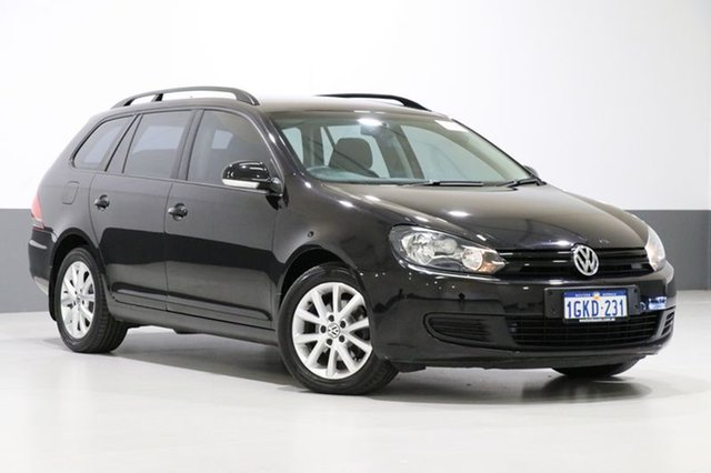 Used Volkswagen Golf 1K MY13 77 TDI Trendline, 2013 Volkswagen Golf 1K MY13 77 TDI Trendline Black 7 Speed Auto Direct Shift Wagon