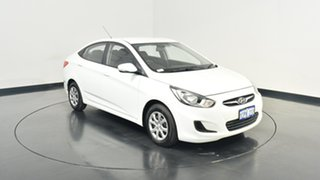 2014 Hyundai Accent RB2 Active White 4 Speed Sports Automatic Sedan.