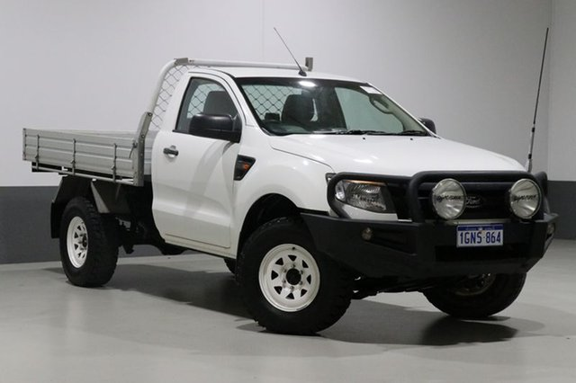 Used Ford Ranger PX XL 3.2 (4x4), 2014 Ford Ranger PX XL 3.2 (4x4) White 6 Speed Manual Cab Chassis