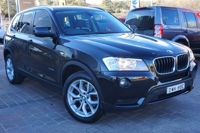 Used BMW X3 F25 MY0413 xDrive20d Steptronic, 2013 BMW X3 F25 MY0413 xDrive20d Steptronic Black 8 Speed Automatic Wagon