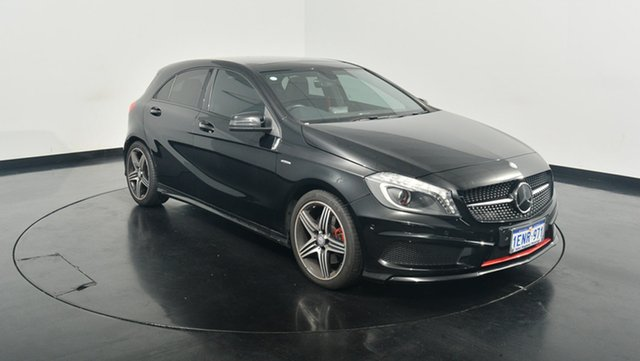 Used Mercedes-Benz A250 W176 Sport D-CT, 2014 Mercedes-Benz A250 W176 Sport D-CT Black 7 Speed Sports Automatic Dual Clutch Hatchback
