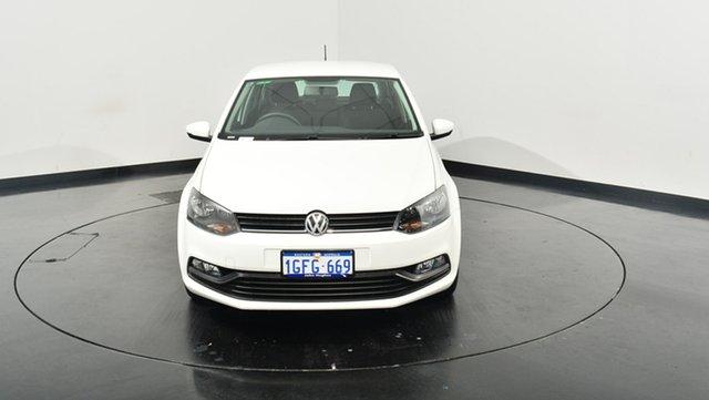 Used Volkswagen Polo 6R MY17 66TSI Trendline, 2017 Volkswagen Polo 6R MY17 66TSI Trendline Pure White 5 Speed Manual Hatchback