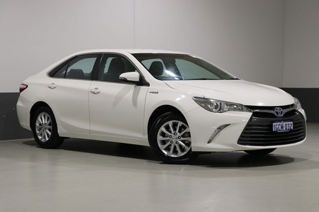 Used Toyota Camry AVV50R MY15 Altise Hybrid, 2016 Toyota Camry AVV50R MY15 Altise Hybrid White Continuous Variable Sedan