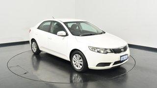2010 Kia Cerato TD MY10 S White 4 Speed Sports Automatic Sedan.