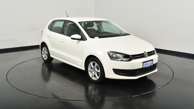 Used Volkswagen Polo 6R MY11 77TSI Comfortline, 2011 Volkswagen Polo 6R MY11 77TSI Comfortline Candy White 6 Speed Manual Hatchback