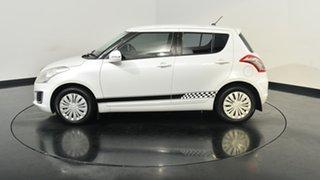 2014 Suzuki Swift FZ MY14 GL White 5 Speed Manual Hatchback.