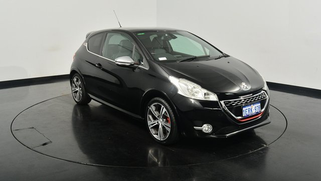 Used Peugeot 208 A9 MY13 GTi, 2014 Peugeot 208 A9 MY13 GTi Black 6 Speed Manual Hatchback