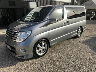 2004 Nissan Elgrand E51 Highway Star Grey 5 Speed Automatic Wagon.