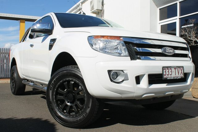 Used Ford Ranger PX XLT Super Cab, 2014 Ford Ranger PX XLT Super Cab Cool White 6 Speed Sports Automatic Utility