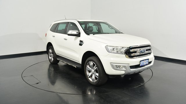 Used Ford Everest UA Titanium 4WD, 2016 Ford Everest UA Titanium 4WD White 6 Speed Sports Automatic Wagon