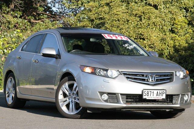 Used Honda Accord Euro CU MY11 Luxury, 2010 Honda Accord Euro CU MY11 Luxury Buran Silver 5 Speed Automatic Sedan