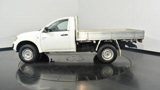 2013 Mitsubishi Triton MN MY13 GLX White 5 Speed Manual Cab Chassis.