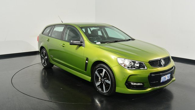 Used Holden Commodore VF II MY16 SV6 Sportwagon Black, 2016 Holden Commodore VF II MY16 SV6 Sportwagon Black Green 6 Speed Sports Automatic Wagon