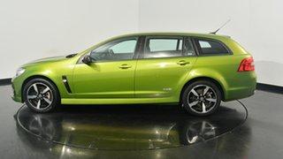 2016 Holden Commodore VF II MY16 SV6 Sportwagon Black Green 6 Speed Sports Automatic Wagon.
