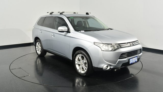 Used Mitsubishi Outlander ZJ MY14 Aspire 4WD, 2013 Mitsubishi Outlander ZJ MY14 Aspire 4WD Silver 6 Speed Constant Variable Wagon