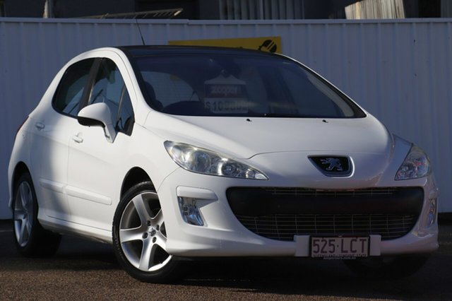 Used Peugeot 308 T7 XTE, 2008 Peugeot 308 T7 XTE White 4 Speed Sports Automatic Hatchback