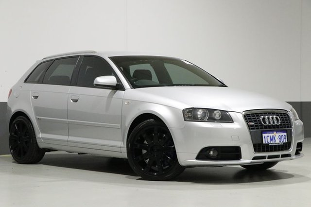Used Audi A3 8P MY06 Upgrade Sportback 3.2 Quattro Ambition, 2007 Audi A3 8P MY06 Upgrade Sportback 3.2 Quattro Ambition Silver 6 Speed Direct Shift Hatchback