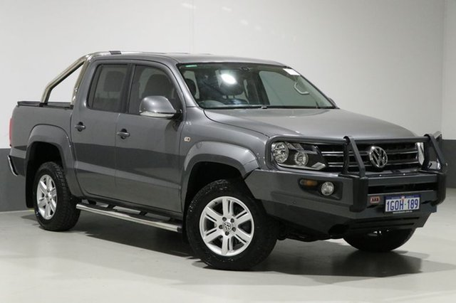 Used Volkswagen Amarok 2H MY15 TDI420 Highline (4x4), 2015 Volkswagen Amarok 2H MY15 TDI420 Highline (4x4) Grey 8 Speed Automatic Dual Cab Utility