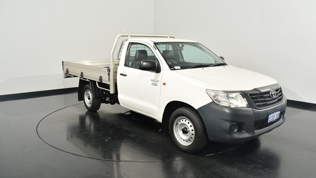 Used Toyota Hilux TGN16R MY14 Workmate 4x2, 2014 Toyota Hilux TGN16R MY14 Workmate 4x2 White 5 Speed Manual Cab Chassis