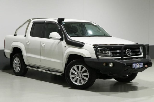 Used Volkswagen Amarok 2H MY15 TDI420 Highline (4x4), 2015 Volkswagen Amarok 2H MY15 TDI420 Highline (4x4) White 8 Speed Automatic Dual Cab Utility