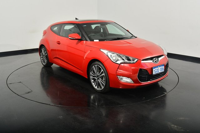 Used Hyundai Veloster FS5 Series II Coupe D-CT, 2016 Hyundai Veloster FS5 Series II Coupe D-CT Veloster Red 6 Speed Sports Automatic Dual Clutch