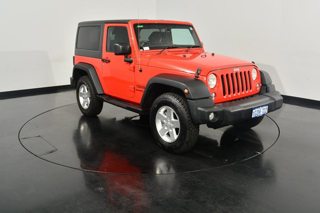 Used Jeep Wrangler JK MY2014 Sport, 2014 Jeep Wrangler JK MY2014 Sport Firecracker Red 5 Speed Automatic Softtop
