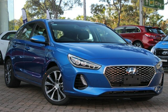 New Hyundai i30 PD MY18 Premium D-CT, 2018 Hyundai i30 PD MY18 Premium D-CT Marina Blue 7 Speed Sports Automatic Dual Clutch Hatchback