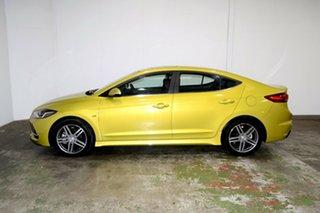 2017 Hyundai Elantra AD MY17 SR Turbo Blazing Yellow 6 Speed Manual Sedan.