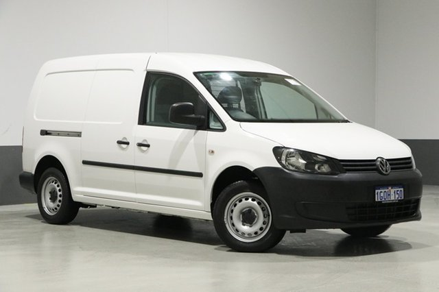 Used Volkswagen Caddy 2K MY15 Maxi TDI250, 2015 Volkswagen Caddy 2K MY15 Maxi TDI250 White 7 Speed Auto Direct Shift Van