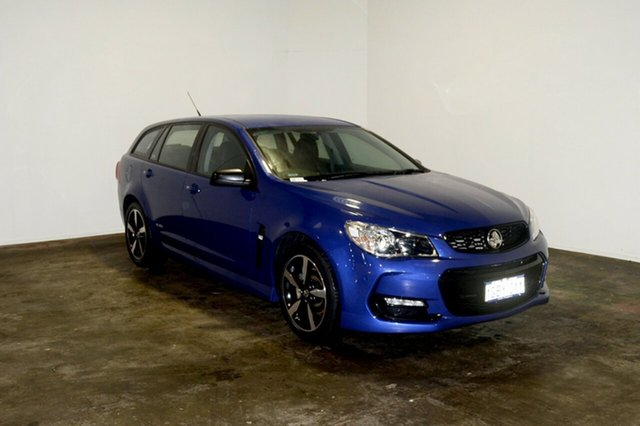 Used Holden Commodore VF II MY16 SV6 Sportwagon Black, 2016 Holden Commodore VF II MY16 SV6 Sportwagon Black Blue 6 Speed Sports Automatic Wagon
